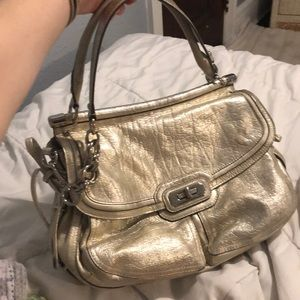 Coach metallic flagship purse